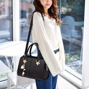Image 5 - NUOVE donne di marca hardware ornamenti solido totes borsa della signora di alta qualità del partito della borsa di crossbody casuale sacchetti di spalla del messaggero