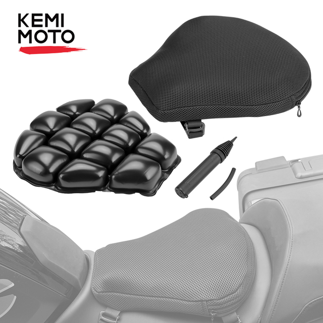 $ US $26.20 KEMiMOTO Air Pad Motorcycle Seat Cushion Cover Universal For CBR600 Z800 Z900 For R1200GS R1250GS For GSXR 600 750 For KTM 390