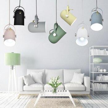 Luz colgante nórdica moderna E27, faros individuales, decoración de iluminación, lámpara colgante
