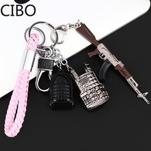 2019 New Playerunknowns Battlegrounds PUBG Weapon Keychain Keyring Key Holder Bag Decor(China)