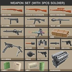 Image 3 - 551PCS גרמנית צבא RSO משוריין משאית עם נשק צבאיים כלי רכב אבני בניין תואם WW2 דמויות צעצועים