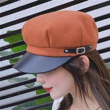 Octagonal Hats Beret-Cap Painter Newsboy Autumn Women Ladies Stylish Artist Woolen Casual