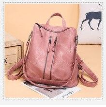 School Backpack Leisure Bag School Bags Fashion Women Leather Backpacks Bag Woman Fashion Backpack Women Mochila Feminina
