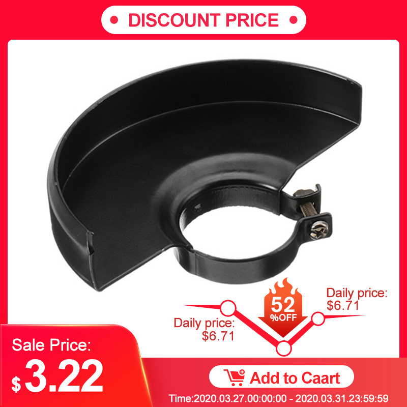 Black Cutting Machine Base Metal Wheel Guard Safety Protector Cover For 125 Angle Grinder
