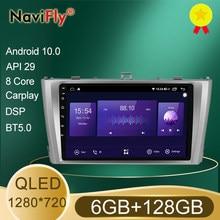 NaviFly 7862 6GB + 128GB QLED pantalla 1280*720 Android 10,0 auto-Radio Audio reproductor Multimedia para Toyota Avensis 3 2008 - 2015
