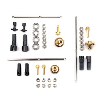 Upgrade Metal Gear Front Middle Rear Bridge Axle for 1/16 WPL C14 C24 B14 B24 Racing Truck RC Car Parts metal op fitting accessories spare parts for 1 16 wpl b14 b16 b24 c14 c24 b36 rc truck