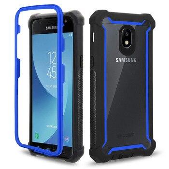 Funda protectora resistente de PC + TPU transparente para Samsung Galaxy A50 A50S A70 A70S A81 A91 A51 A71, funda resistente a prueba de golpes