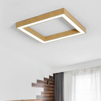 Simple Modern Led Ceiling Light Office Lamp Square Living Room Bedroom Study Hotel Internet Bar Acrylic Light Fixtures