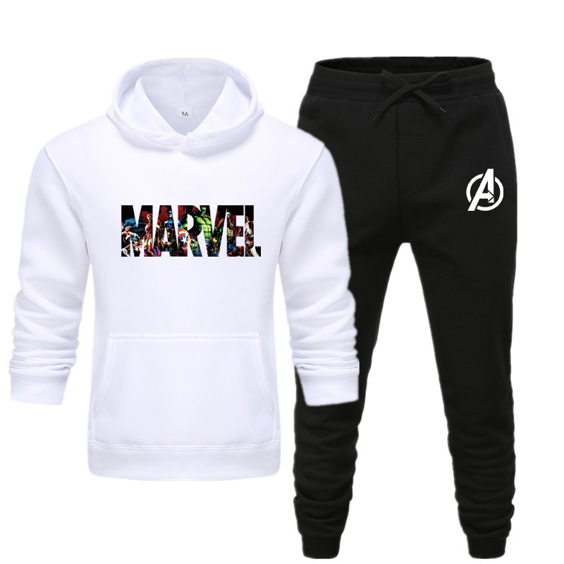 New Hot Keep Warm Two Pieces Set Fashion Hoodies Sportswear Men Tracksuit Hoodie Autumn Men Brand Clothes Hoodies+Pants Sets