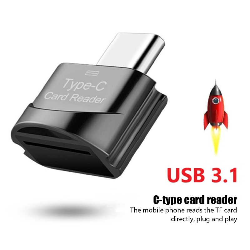 Novo usb 3.0 tipo c para micro-sd tf adaptador otg cardreader mini leitor de cartão de memória inteligente leitor de cartão para portátil samsung