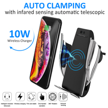 Vehicle Car Wireless Charger Holder IR Automatic Induction Fast Charging Phone Holder Stands Air Vent Mount держатель hoco ca35 plus auto induction wireless fast charging in car phone holder black