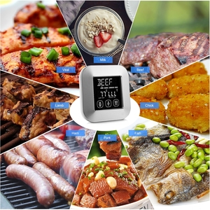 Image 3 - Touch Screen LCD Digital Kitchen Food Cooking Meat BBQ Thermometer and Timer for Oven Turkey/Grilling/Frying/Roasting/Water/Milk