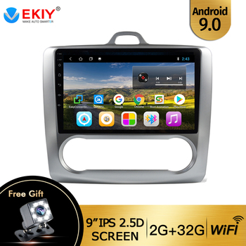 EKIY 9'' IPS Android 9.0 AutoRadio For Ford Focus 2 Mk2 2004-2011 Tape Recorder Car Navigation GPS DVD Video Player Wifi BT USB image