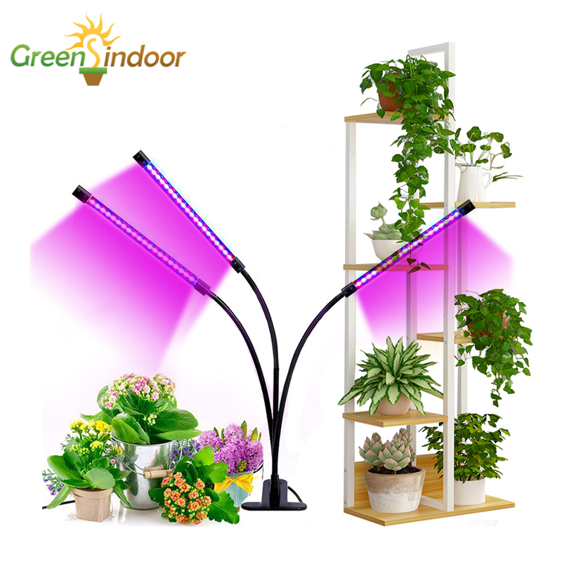 Indoor Timer LED Grow Light 27W Phyto Lamp For Plants Full Spectrum USB Grow Lights For Succulents Seedlings Home Flowers Plants