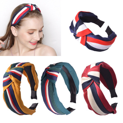 20PCS/lot wholesale Korean Ribbon knot headband bow hairband for women's bezel fashion 2022 new year gift  girl hari accessories