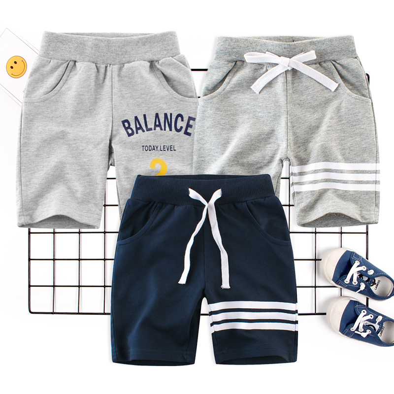 Boy Clothing Pants Trousers Elastic Waist Baby Kids Beach Children Summer Toddler Letter Print in Pants from Mother Kids