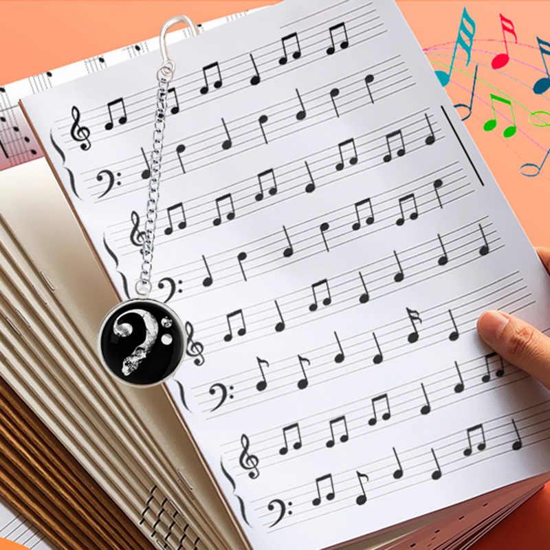 Musicale Segno Segnalibro Naturale Note Fortississimo Piatto Simbolo Punteggiato Semibreve Pendente per La Lettura Musica per Pianoforte Del Taccuino Del Libro
