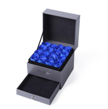 8 Color Eternal Rose Style Practical Jewelry Box Display Earrings Necklace Pendant Storage Gift Packaging