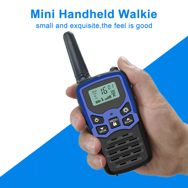 (2pcs) Mini Handheld Walkie Talkie Portable Radio High Power VHF Handheld Two Way Ham Radio Communicator Transceiver рация 5 KM 8