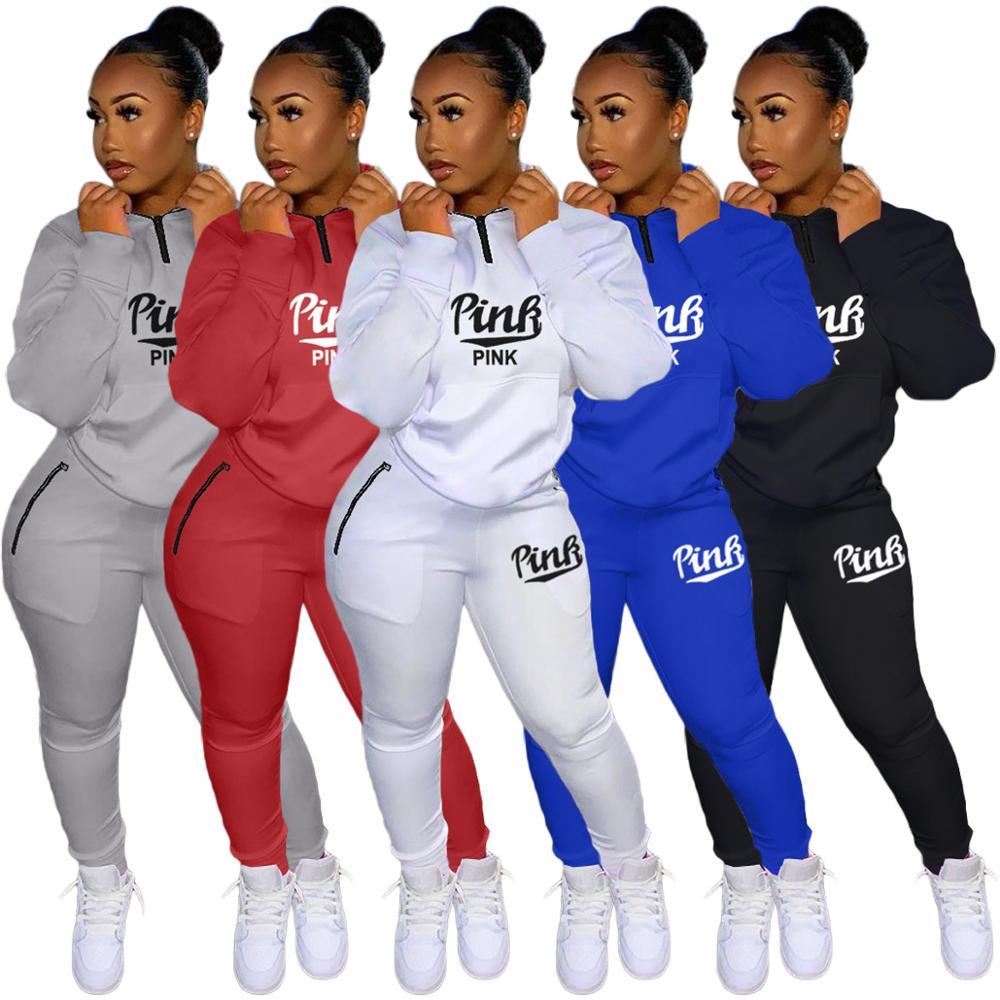 Felyn 2020 лучшее качество известный бренд 2 шт. толстые спортивные костюмы женские комплекты с буквами Водолазка Топы Длинные штаны Зимние элас...
