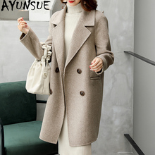 AYUNSUE Double Side Wool Coat Winter Jacket Women Clothes 2020 Alpaca Woolen Coat Female Korean Long Coats Chaqueta Mujer MY3820
