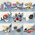 2~7Pcs/Set Enamel Pins Retro Game Organ Heart Cute Kitten Brooch Quote Food Lapel Brooch Introvert Badge Cartoon Jewelry Gifts