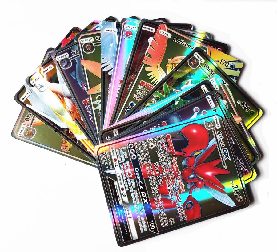 300 Pcs GX 60 100pcs MEGA Shining Cards Game Battle Carte Trading Cards Game Children Pokemons Toy