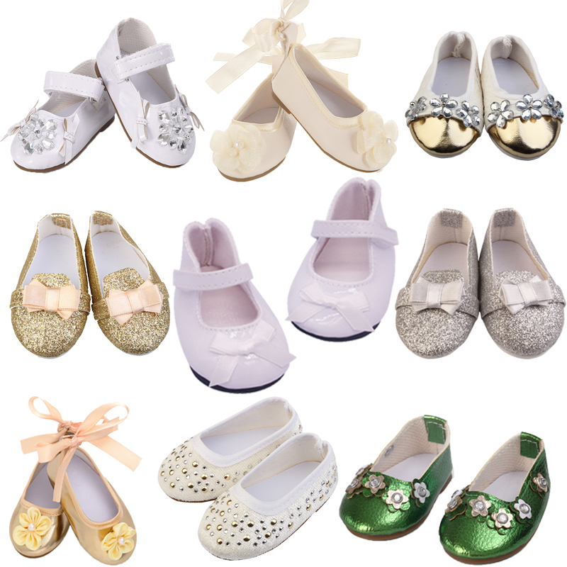 New Fashion High-quality Exquisite Dolls Shoes 15 Styles Leather Shoes For 18 Inch American Doll For Our Generation Girl`s Toy