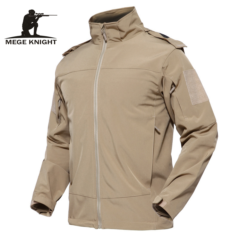 Mege Brand New Spring Summer Tactical Jacket Military Style Clothing Casual Combat Male Outwear Hooded Multi Pockets Softshell