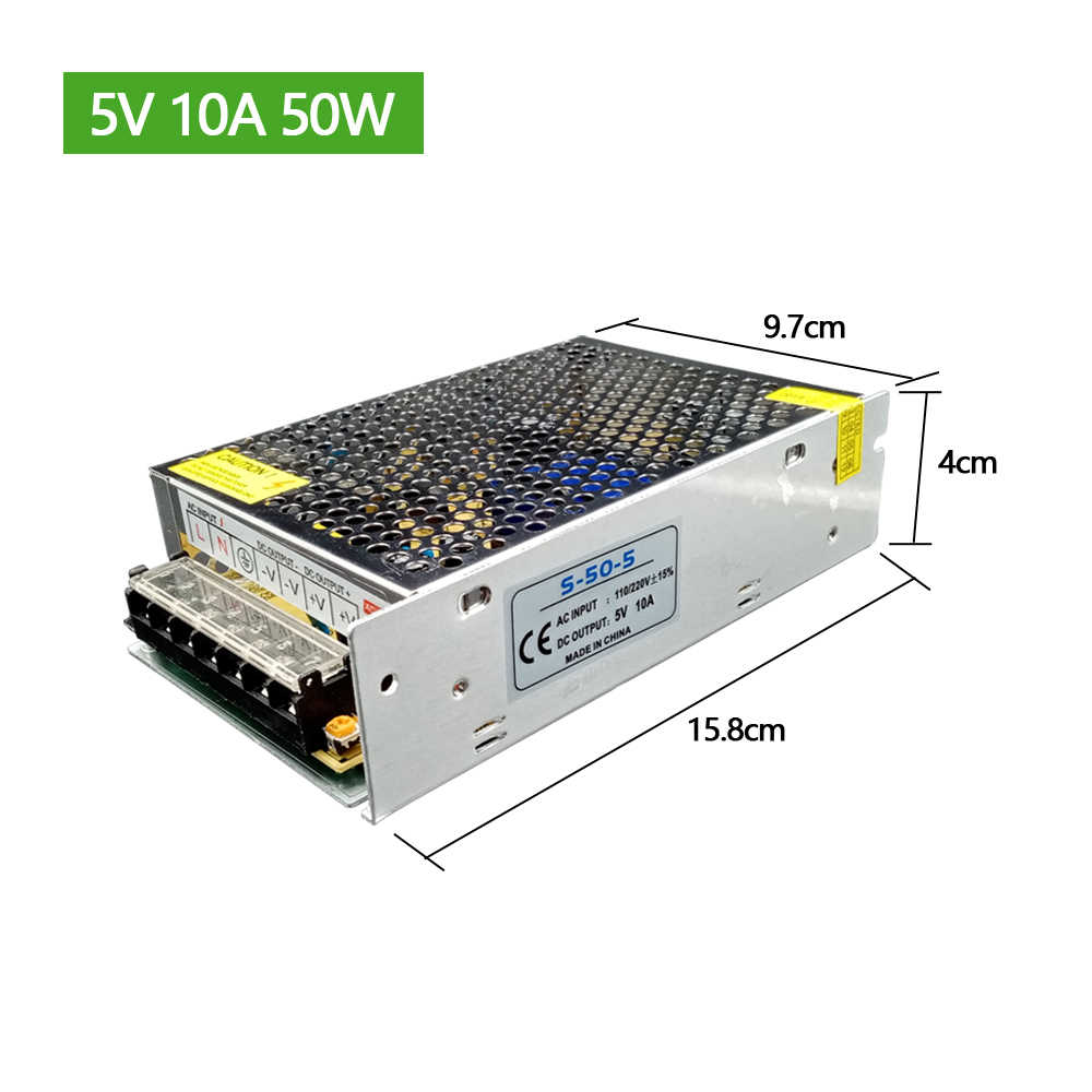 الإضاءة المحولات DC 5V 12V 24V 36 V موائم مصدر تيار 5 12 24 36 V فولت امدادات الطاقة 1A 2A 3A 5A 6A 8A 10A 15A 20A 30A