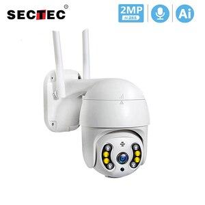 SECTEC 1080P PTZ Беспроводная IP камера водонепроницаемая 4X цифровая зум скорость купольная Супер Мини WiFi охранная CCTV камера Аудио Обнаружение