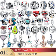 New Style 925 Sterling Silver Snake Charms Design Beads Fit Original Pandora Bracelet for Women DIY Fashion Pendant Jewelry