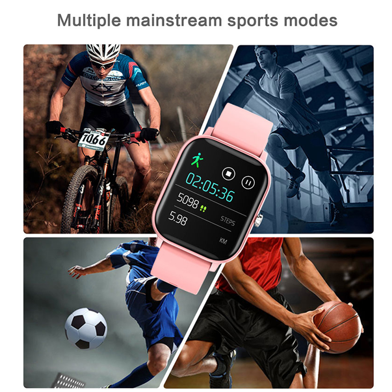 lowest price P8 Smart Watch Men Women IP67 Waterproof Fitness Tracker Sport Heart Rate Monitor Full Touch Smartwatch for Amazfit Gts Xiaomi