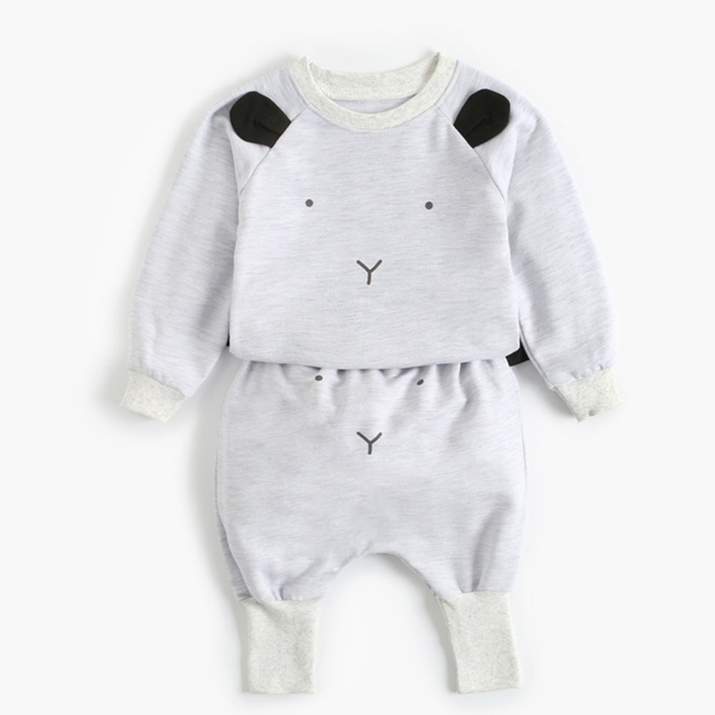 2021 New Newborn Baby Girls Clothes Autumn Baby Boys Clothes Set Kids Costume Infant Baby Clothing Suit Cotton Coat+Pants 3