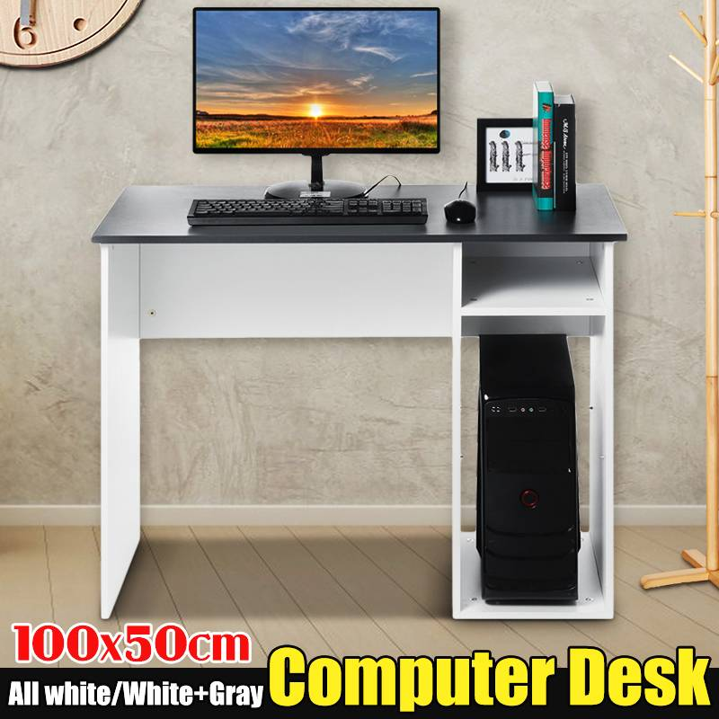 Multi-function Home Office Computer Desks Study Student Desk Writing Table Laptop Desktop Dormitory Storage Shelves 100x50x75cm