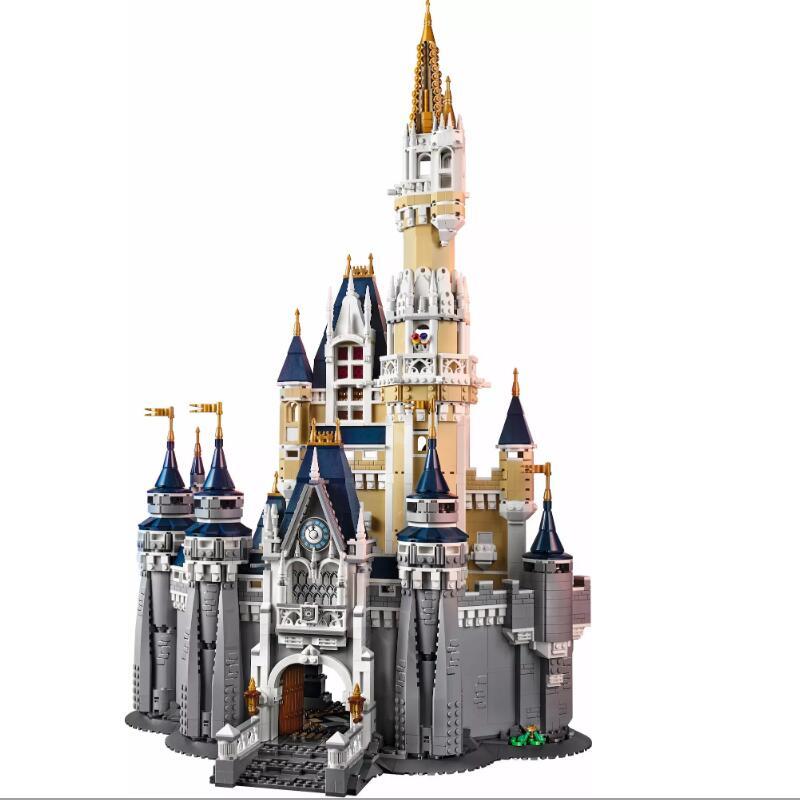 16008 cinderela princesa castelo cidade modelo bloco de construção criança brinquedos para crianças presente 4080 peças compatíveis com filme 71040