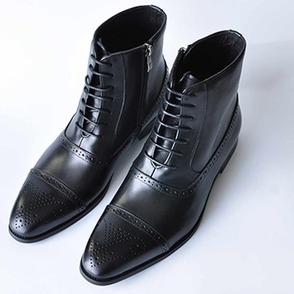 JAYCOSIN 2019 männer Stiefel Winter Warm Männer Stiefel Lace Up Vielseitig Männlichen Leder Schuhe Business Ankle Boot Big Größe 39-47 schuhe