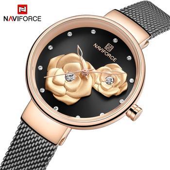 NAVIFORCE 5013 Fashion Casual Women Watches Clock Quartz Waterproof WITH BOX