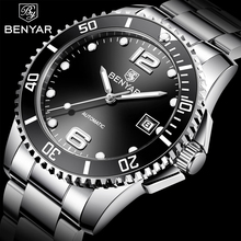 BENYAR Automatic Watch Men Mens Watches Top Brand Luxury Business WristWatch Military Clock Relogio Masculino 2019