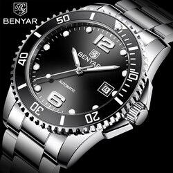 BENYAR automatyczny zegarek mężczyźni automatyczne męskie zegarki Top marka luksusowy biznes zegarek zegarek wojskowy mężczyźni Relogio Masculino 2019