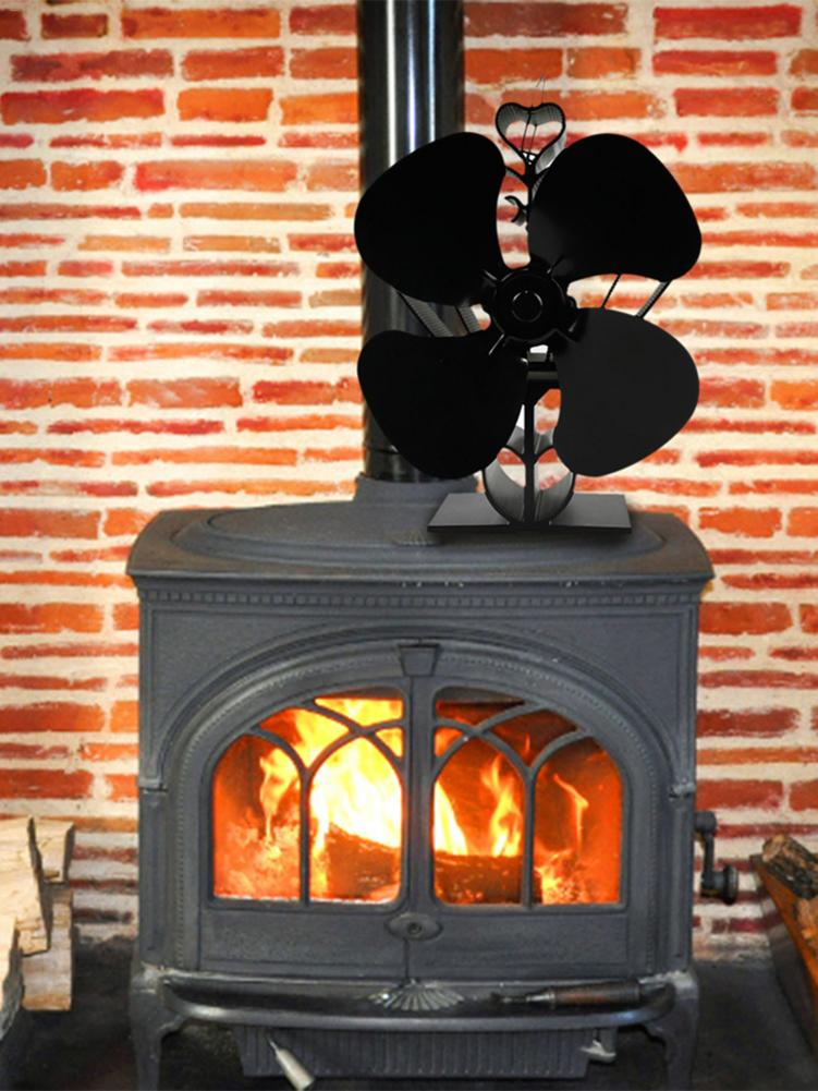 Fireplace Fan Hot Power Stove Blower Environmentally Friendly Energy-saving Thermal Power Fan No Battery Required Furnace Fan