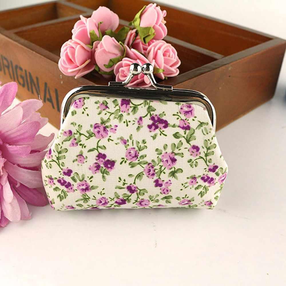 Women Lady Retro Vintage Flower Wallet 5 pcs of Women Lady Retro Vintage Flower Small Wallet Hasp Purse Clutch Bag ##6