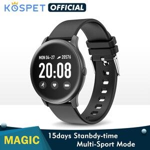 Image 1 - Смарт часы KOSPET Magic для мужчин, монитор сердечного ритма, кровяное давление, фитнес, женский браслет, спортивные KW19, умные часы для детей, браслет