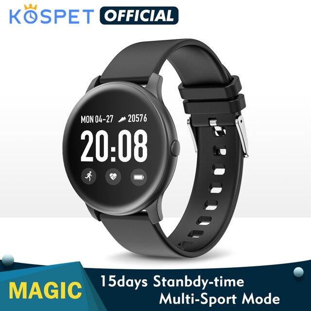 Смарт часы KOSPET Magic для мужчин, монитор сердечного ритма, кровяное давление, фитнес, женский браслет, спортивные KW19, умные часы для детей, браслет