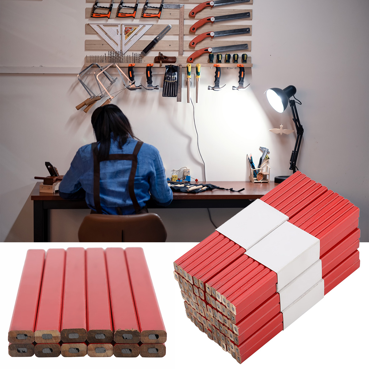 72 pçs de madeira chumbo lápis octogonal
