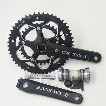 RS-H002 Road Bike Aluminum Alloy Crankset Bicycle Fixed Gear Hollow Crank 170mm 110BCD CNC Chainwheel 34-50T Bottom Bracket