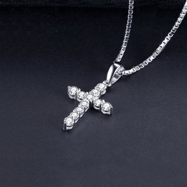 Cross CZ Sterling Silver Pendant