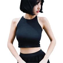Camiseta sin mangas con diseño de marca para mujer, tops cortos tropicales, top sexy para fitness, tops superiores, ropa de cuerpo, 2020