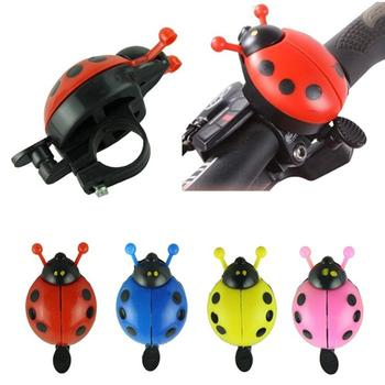 Funny Bicycle Bell Ring Kid Aluminum Alloy Beetle Mini Cartoon Ladybug Ring Bell For Outdoor Cycling Bike Bell Ride Horn Alarm image