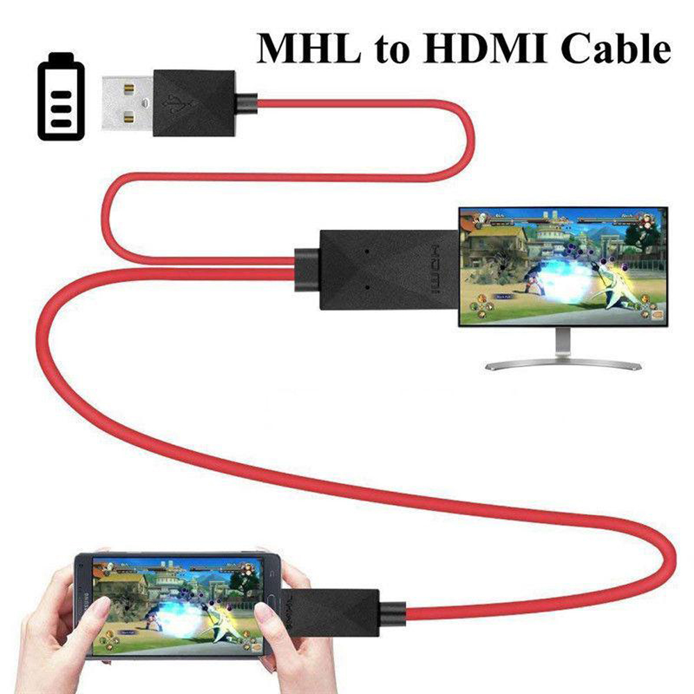 Phone to Tv Cable Note 3 Note 2 red S3 S4 MHL Micro USB to HDMI 1080P HD TV Cable Adapter for Samsung Galaxy S5
